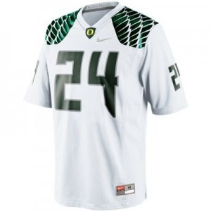 Nike Kenjon Barner Oregon Ducks No.24 Youth - White Football Jersey