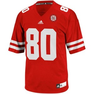 Adida Kenny Bell Nebraska Cornhuskers No.80 Youth - Red Football Jersey