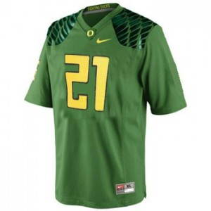 Nike LaMichael James Oregon Ducks No.21 - Apple Green Football Jersey