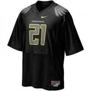 Nike LaMichael James Oregon Ducks No.21 - Black Football Jersey