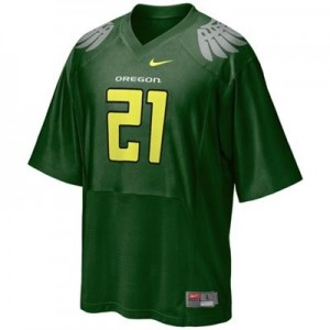 Nike LaMichael James Oregon Ducks No.21 Youth - Green Football Jersey