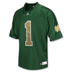 Adida Louis Nix III Notre Dame Fighting Irish No.1 - Green Football Jersey