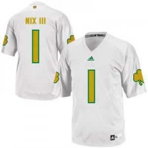 Adida Louis Nix III Notre Dame Fighting Irish No.1 Shamrock Series Youth - White Football Jersey