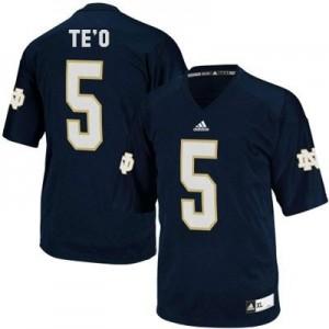 Adida Manti Te'o Notre Dame Fighting Irish No.5 - Navy Blue Football Jersey