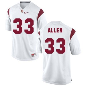 Nike Marcus Allen USC Trojans No.33 Youth - White Football Jersey