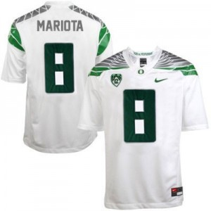 Nike Marcus Mariota Oregon Ducks 2014 No.8 Mach Speed - White Football Jersey