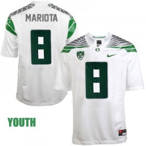 Nike Marcus Mariota Oregon Ducks 2014 No.8 Mach Speed Youth - White Football Jersey