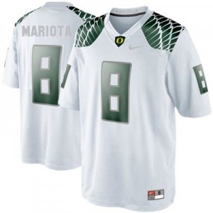 Nike Marcus Mariota Oregon Ducks No.8 - White Football Jersey