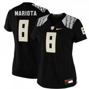 Nike Marcus Mariota Oregon Ducks No.8 Women - Black Football Jersey