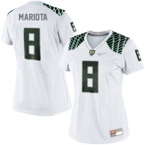 Nike Marcus Mariota Oregon Ducks No.8 Women - White Football Jersey
