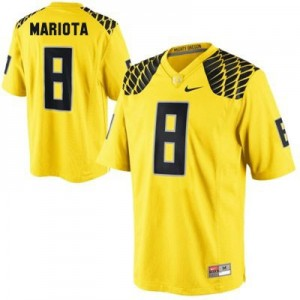 Nike Marcus Mariota Oregon Ducks No.8 Youth - Yellow Football Jersey