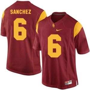 Nike Mark Sanchez USC Trojans No.6 - Red Football Jersey