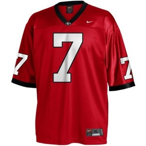 Nike Matthew Stafford Georgia Bulldogs No.7 - Red Football Jersey