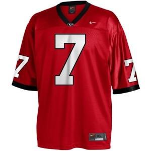 Nike Matthew Stafford Georgia Bulldogs No.7 Youth - Red Football Jersey