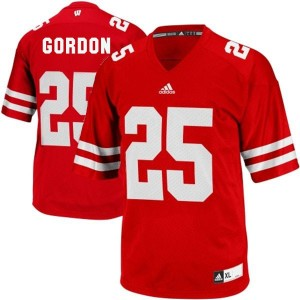 Adidas Melvin Gordon UW Badger No.25 Youth - Red Football Jersey