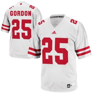 Adidas Melvin Gordon UW Badger No.25 Youth - White Football Jersey
