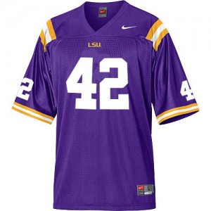 Nike Michael Ford LSU Tigers No.42 Mesh - Purple Football Jersey