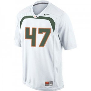 Nike Michael Irvin U of M Hurricanes No.47 - White Football Jersey