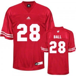 Adidas Montee Ball UW Badger No.28 - Red Football Jersey