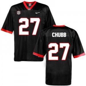Nike Nick Chubb Georgia Bulldogs No.27 - Black Football Jersey