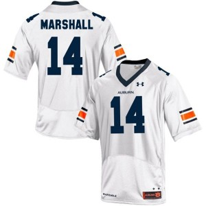 Under Armour Nick Marshall Auburn Tigers No.14 Youth - White Football Jersey