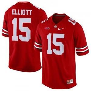 Nike Ezekiel Elliott Ohio State Buckeyes No.15 - Scarlet Football Jersey