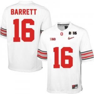 Nike J.T. Barrett OSU No.16 Diamond Quest 2015 Patch College - White Football Jersey