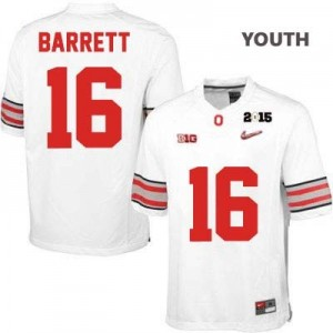 Nike J.T. Barrett OSU No.16 Diamond Quest 2015 Patch College - White - Youth Football Jersey