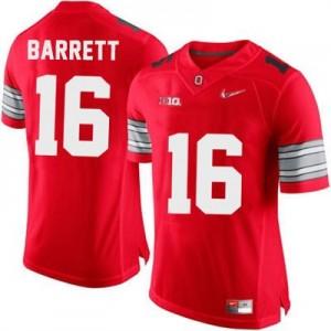 Nike J.T. Barrett OSU No.16 Diamond Quest Playoff - Scarlet Red Football Jersey