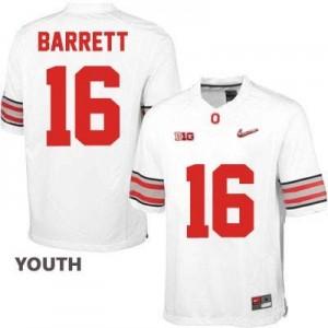 Nike J.T. Barrett OSU No.16 Diamond Quest Playoff - White - Youth Football Jersey