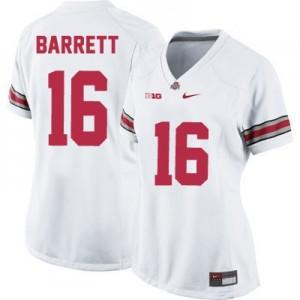 Nike J.T. Barrett Ohio State Buckeyes No.16 Women's - White Football Jersey