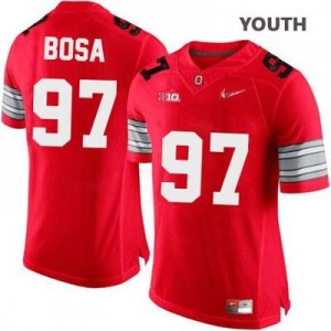 Nike Joey Bosa OSU No.97 Diamond Quest Playoff - Scarlet Red - Youth Football Jersey