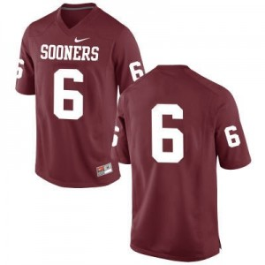 Nike Oklahoma Sooners No.6 Baker Mayfield Red (No Name) Football Jersey