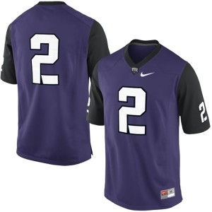 Nike TCU Horned Frogs No.2 College - Purple Football Jersey