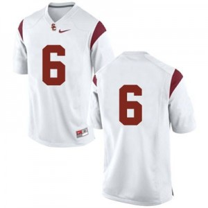 Nike USC Trojans No.6 College - White Football Jersey