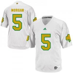 Adida Nyles Morgan Notre Dame Fighting Irish No.5 Shamrock Series - White Football Jersey