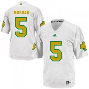 Adida Nyles Morgan Notre Dame Fighting Irish No.5 Shamrock Series Youth - White Football Jersey
