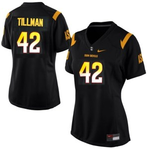 Nike Pat Tillman Arizona State Sun Devils No.42 Women - Black Football Jersey
