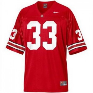 Nike Pete Johnson Ohio State Buckeyes No.33 - Scarlet Red Football Jersey