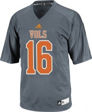 Adidas Peyton Manning Tennessee Volunteers No.16 - Gray Football Jersey
