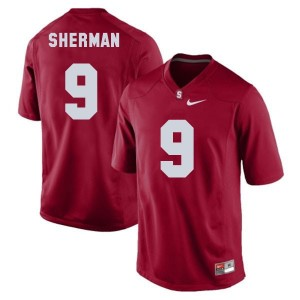 Nike Richard Sherman Stanford Cardinal No.9 Youth - Red Football Jersey