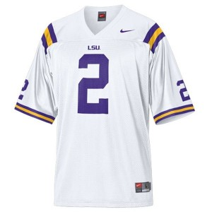 Nike Rueben Randle LSU Tigers No.2 Mesh - White Football Jersey