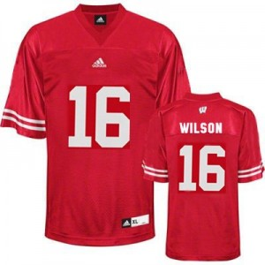 Adidas Russell Wilson UW Badger No.16 Youth - Red Football Jersey
