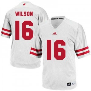 Adidas Russell Wilson UW Badger No.16 Youth - White Football Jersey