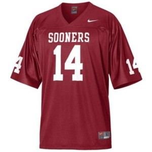 Nike Sam Bradford Oklahoma Sooners No.14 - Crimson Red Football Jersey