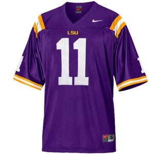 Nike Spencer Ware LSU Tigers No.11 Mesh Youth - Purple Football Jersey