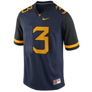 Nike Stedman Bailey West Virginia Mountaineers No.3 - Blue Football Jersey