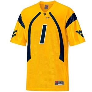 Nike Tavon Austin West Virginia Mountaineers No.1 - Gold Football Jersey