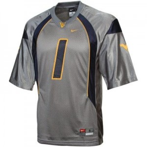 Nike Tavon Austin West Virginia Mountaineers No.1 - Gray Football Jersey
