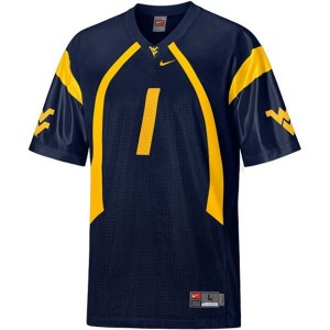 Nike Tavon Austin West Virginia Mountaineers No.1 Youth - Blue Football Jersey